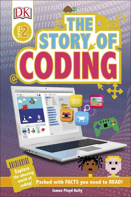 Hardback cover of DK Readers L2: Story of Coding