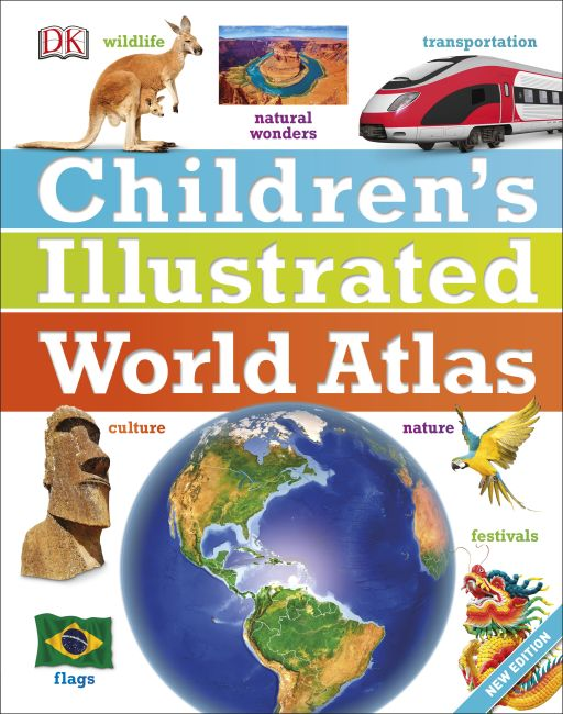 Hardback cover of Children's Illustrated World Atlas