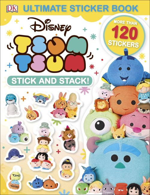 Paperback cover of Ultimate Sticker Book: Disney Tsum Tsum Stick and Stack!