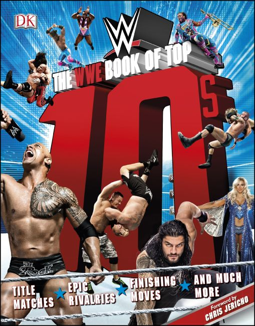 Hardback cover of The WWE Book of Top 10s