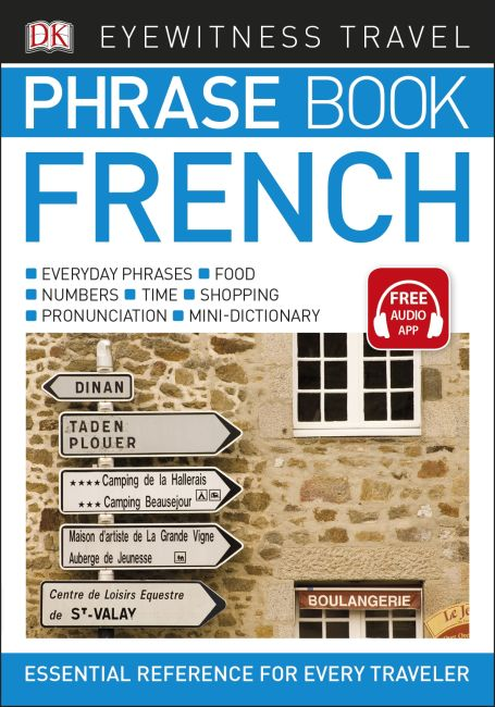 Paperback cover of Eyewitness Travel Phrase Book French