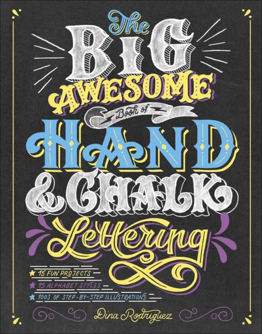 Paperback cover of The Big Awesome Book of Hand & Chalk Lettering
