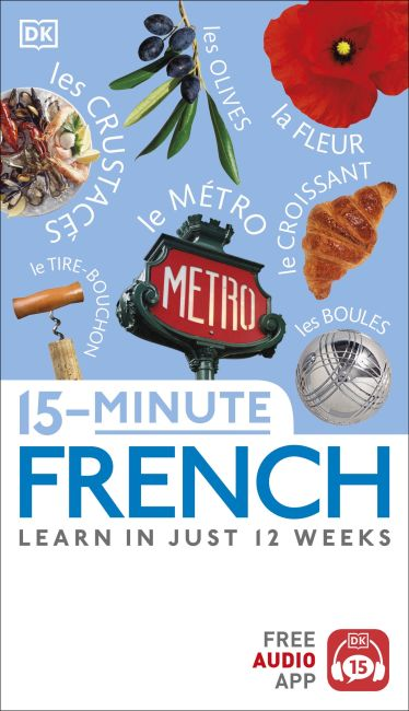 Paperback cover of 15-Minute French