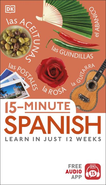 Paperback cover of 15-Minute Spanish