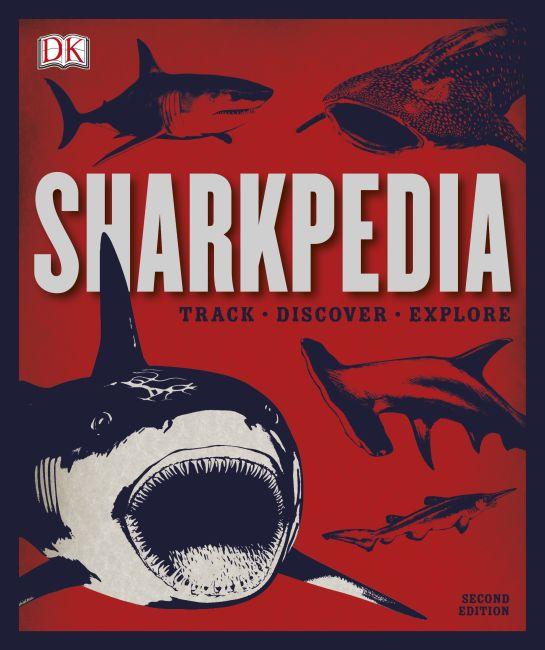 Hardback cover of Sharkpedia, 2nd Edition