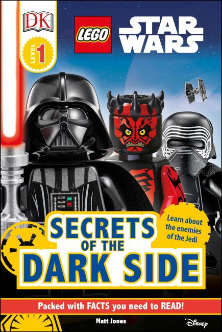 Hardback cover of DK Readers L1 LEGO® Star Wars Secrets of the Dark Side