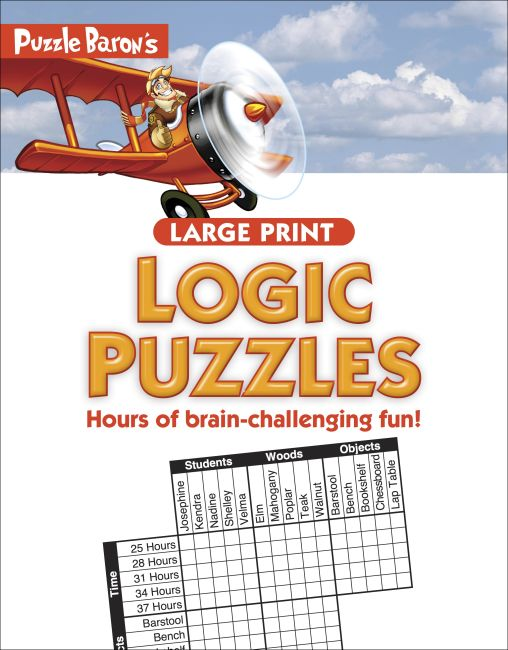Paperback cover of Puzzle Baron's Large Print Logic Puzzles