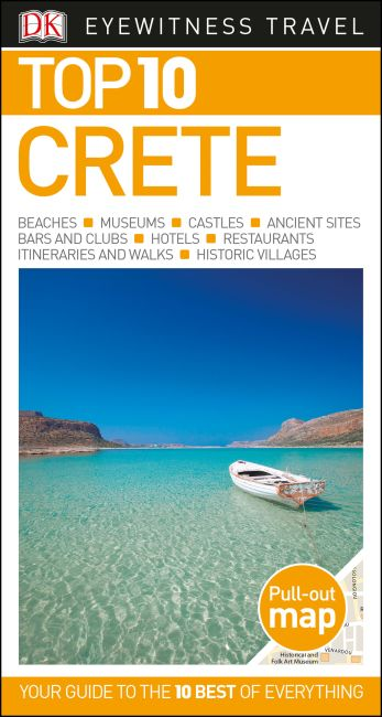 Paperback cover of DK Eyewitness Top 10 Crete