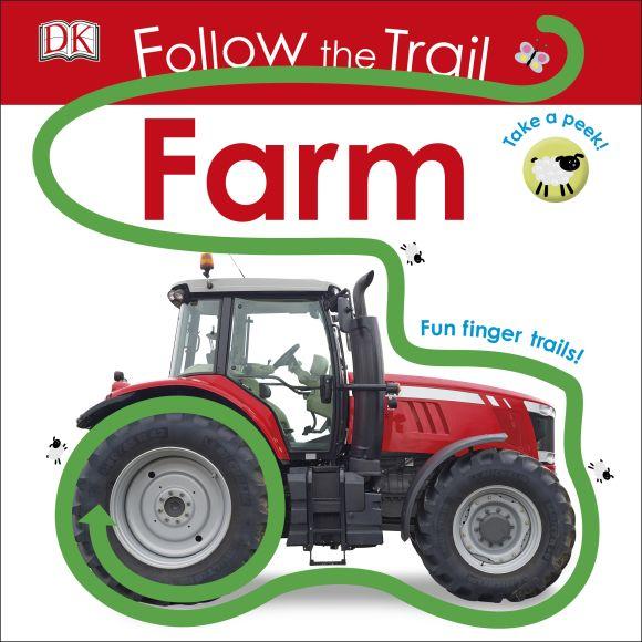 Board book cover of Follow the Trail: Farm