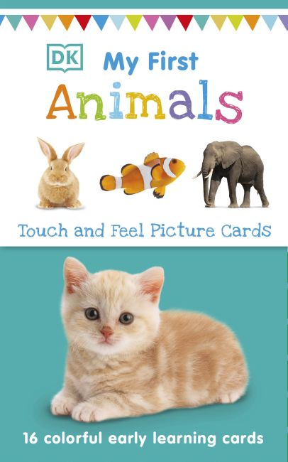 Paperback cover of My First Touch and Feel Picture Cards: Animals