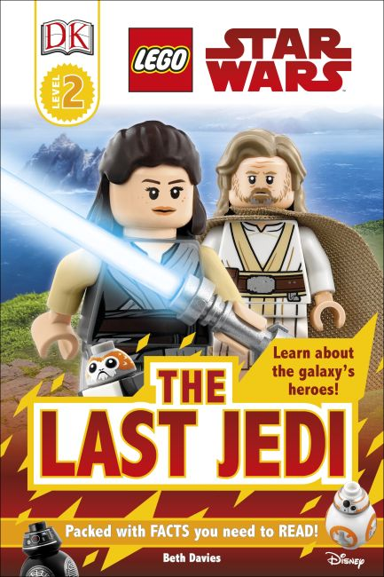 Hardback cover of DK Readers L2: LEGO Star Wars: The Last Jedi