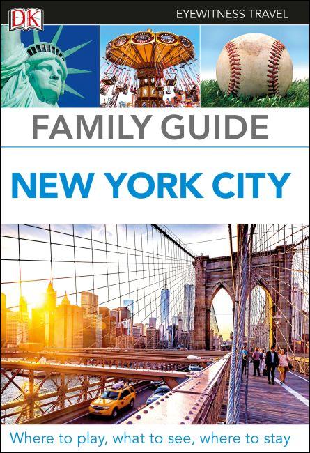 Hardback cover of DK Eyewitness Family Guide New York City