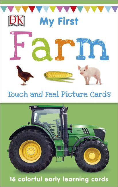 Paperback cover of My First Touch and Feel Picture Cards: Farm