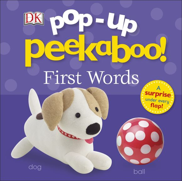 Board book cover of Pop-Up Peekaboo: First Words