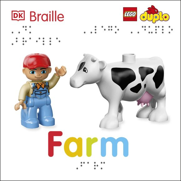 Board book cover of DK Braille: LEGO DUPLO: Farm