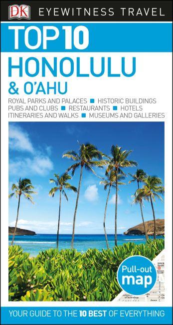 Paperback cover of DK Eyewitness Top 10 Honolulu and O'ahu