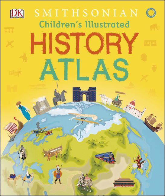 Hardback cover of Children's Illustrated History Atlas