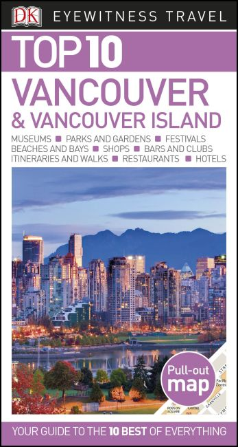 Paperback cover of DK Eyewitness Top 10 Vancouver and Vancouver Island