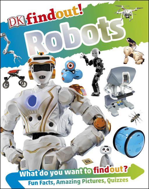Hardback cover of DKfindout! Robots