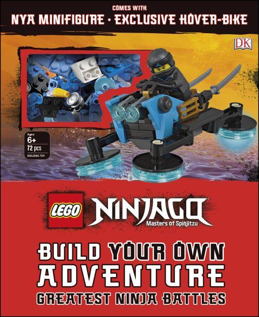 Hardback cover of LEGO NINJAGO Build Your Own Adventure Greatest Ninja Battles