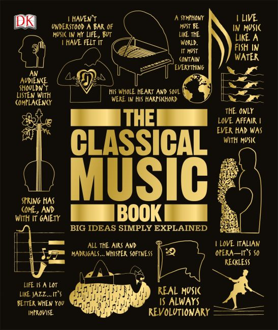 Hardback cover of The Classical Music Book