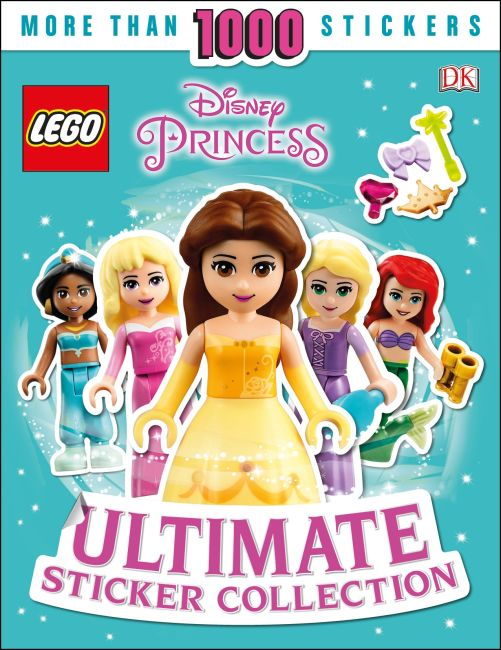 Paperback cover of Ultimate Sticker Collection: LEGO Disney Princess