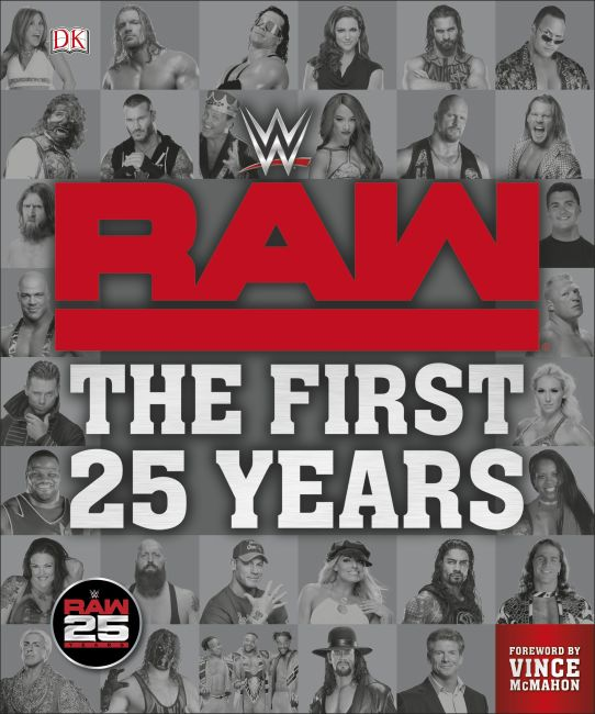 Hardback cover of WWE RAW: The First 25 Years