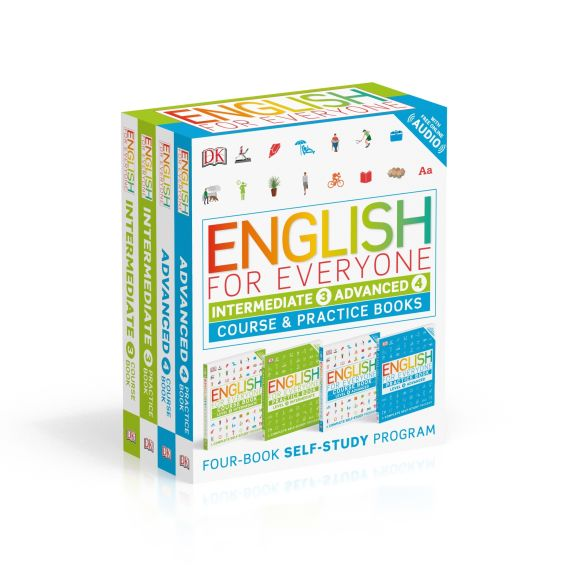 Paperback cover of English for Everyone: Intermediate and Advanced Box Set