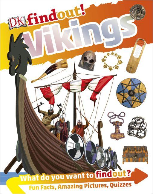 Hardback cover of DKfindout! Vikings