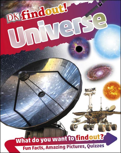 Hardback cover of DKfindout! Universe