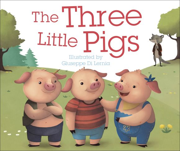 Board book cover of The Three Little Pigs