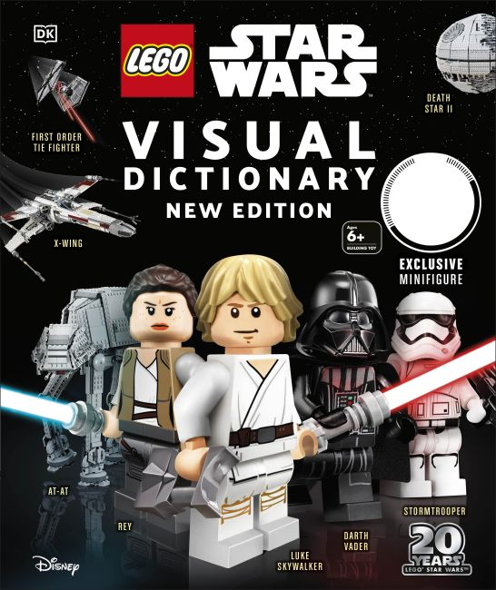 Hardback cover of LEGO Star Wars Visual Dictionary, New Edition