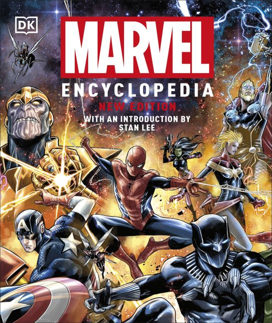 Hardback cover of Marvel Encyclopedia, New Edition