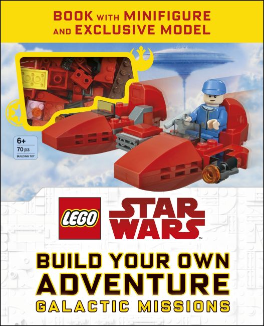 Hardback cover of LEGO Star Wars Build Your Own Adventure Galactic Missions