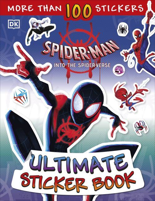 Paperback cover of Ultimate Sticker Book: Marvel Spider-Man: Into the Spider-Verse
