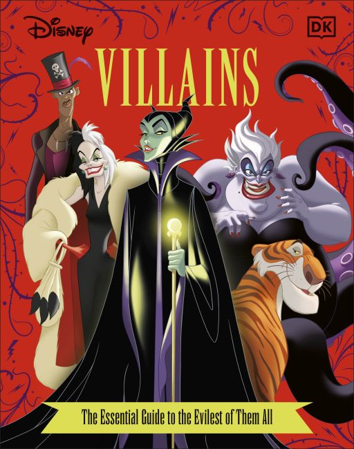 Hardback cover of Disney Villains The Essential Guide, New Edition