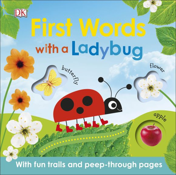 Board book cover of First Words with a Ladybug