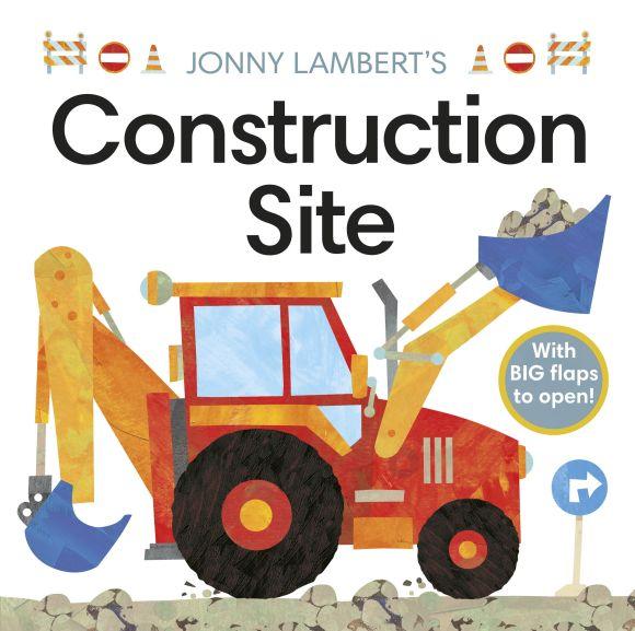 Board book cover of Jonny Lambert's Construction Site