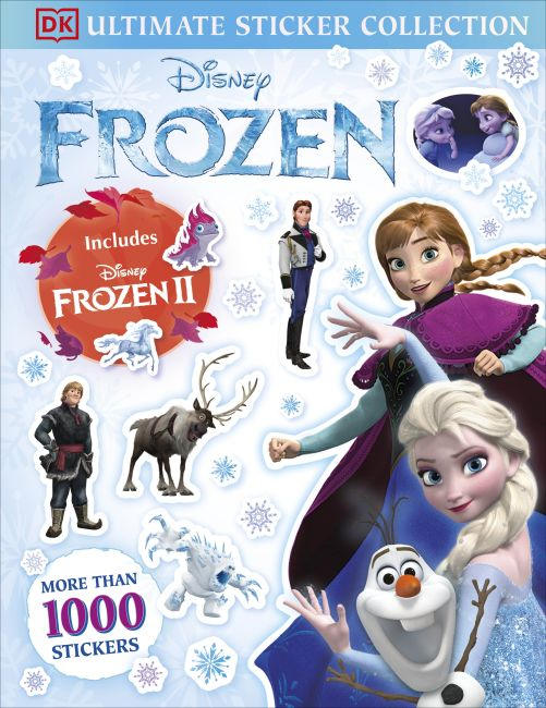 Paperback cover of Disney Frozen Ultimate Sticker Collection Includes Disney Frozen 2