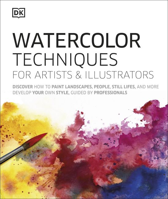 Hardback cover of Watercolor Techniques for Artists and Illustrators