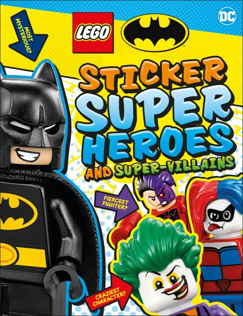 Paperback cover of LEGO Batman Sticker Super Heroes and Super-Villains