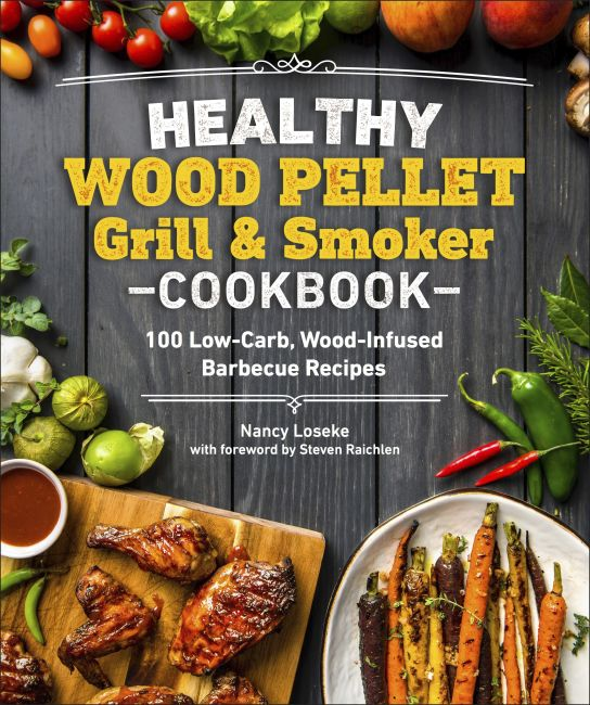 Paperback cover of Healthy Wood Pellet Grill & Smoker Cookbook