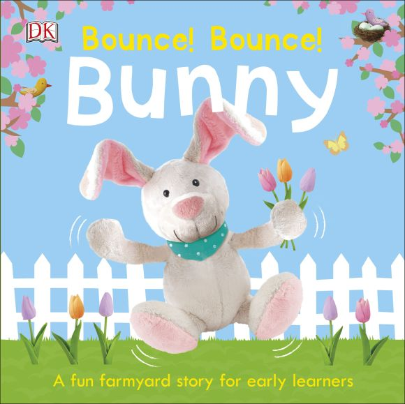 Board book cover of Bounce! Bounce! Bunny
