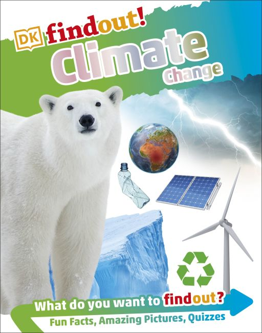 Hardback cover of DKfindout! Climate Change  (Library Edition)