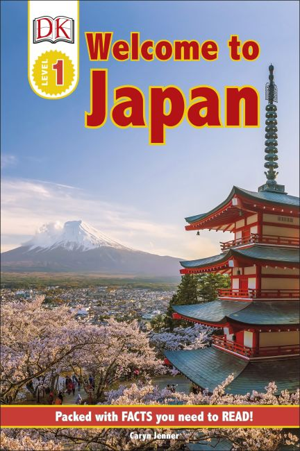 Hardback cover of DK Reader Level 1: Welcome to Japan