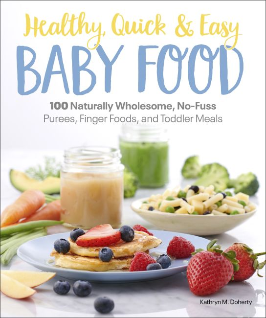 Paperback cover of Healthy, Quick & Easy Baby Food