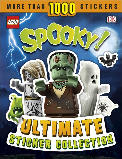 Paperback cover of LEGO Spooky! Ultimate Sticker Collection