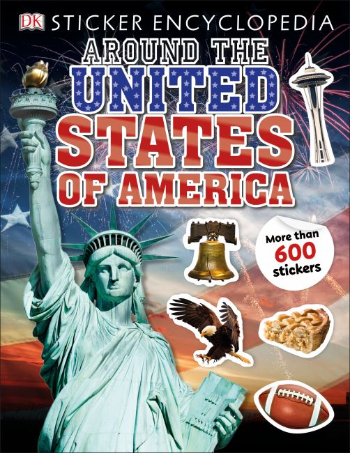 Paperback cover of Sticker Encyclopedia Around the United States of America