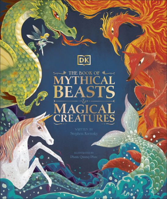 Hardback cover of The Book of Mythical Beasts and Magical Creatures