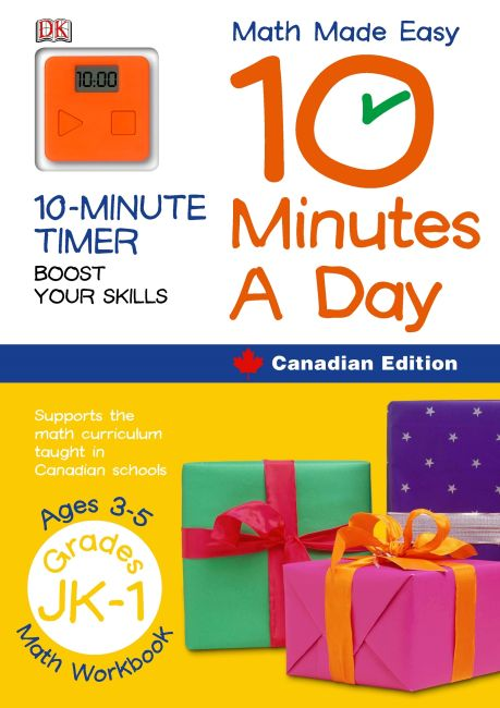 Paperback cover of Math Made Easy 10 Minutes A Day Grade Jk 1